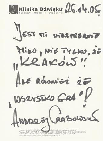 Referencje dla Kliniki Dźwięku - Andrzej Grabowski